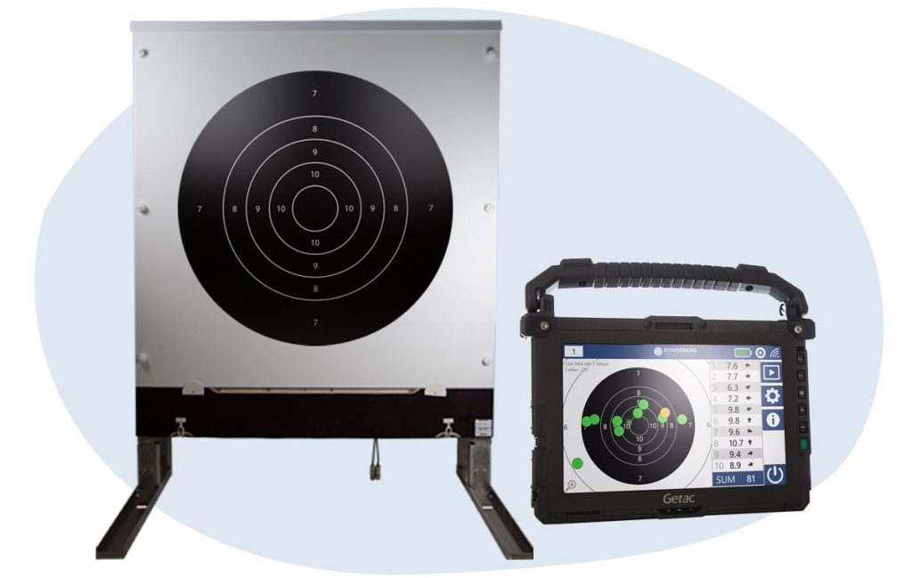 Long range electronic target and wireless monitor solution