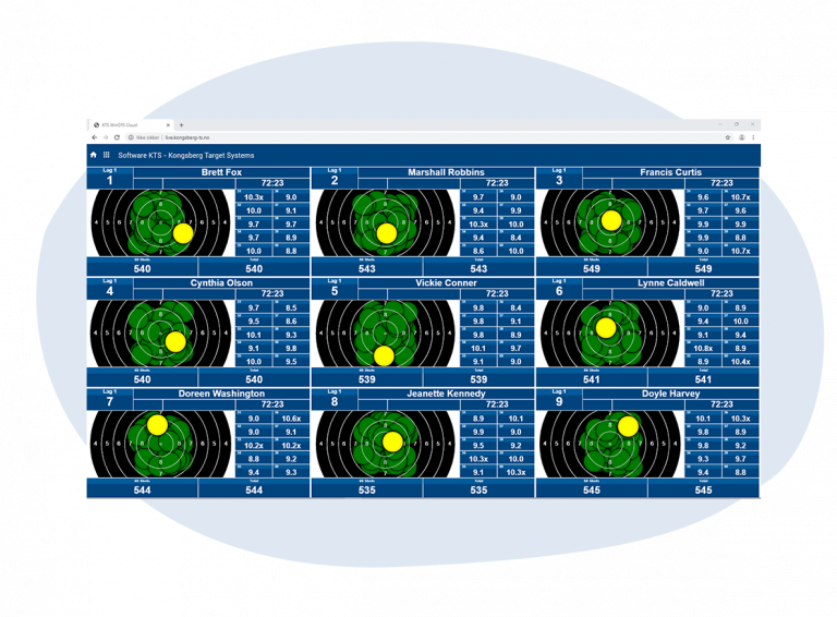 Spectator software for range spectator screens kongsberg target system