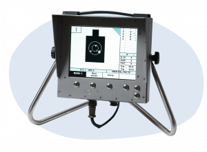 Electronic targets monitor for rugged environment