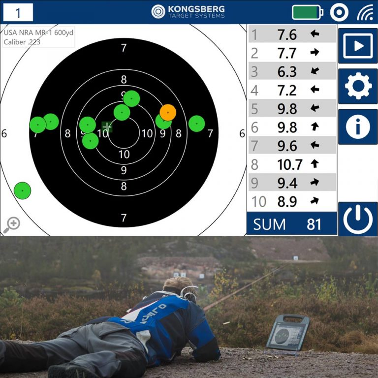 Loong distance shooting on wireless electronic targets