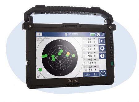 kongsberg wireless monitor with electronic target software